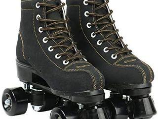 Roller Skates for Women Men High top Roller Skates Four Wheels Roller Skates Shiny Roller Skates for Girls Boys