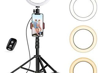 Selfie Ring light with Tripod Stand   Cell Phone Holder for live Stream Makeup  UBeesize Mini led Camera Ringlight for YouTube Video Photography