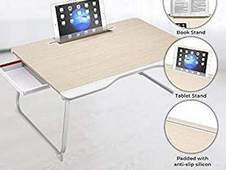 Cooper Mega Table   XXl large Folding Table   laptop Desk for Bed  Couch   Floor   lap Desk for laptop  Sofa Table  Bed Table for laptop  Folding Desk  White Oak