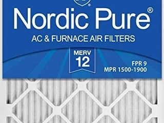 Nordic Pure 16x24x1 MERV 12 Pleated AC Furnace Air Filters 3 Pack