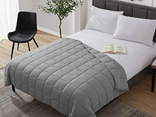 Weighted Blanket Cooling Breathable Heavy Blanket Comforter Microfiber Material with Glass Beads  20lbs 60 x80  Queen Size Bed  Big Blanket for Adult All season Fall Winter Soft Thick Comfort Blanket