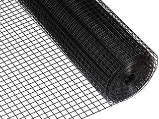Amagabeli 36inch x 50ft Hardware Cloth 1 inch Square 16 Gauge Black Vinyl Coated Welded Fence Mesh Roll for Home and Garden Fence and Pet Enclosures Protect Chickens Rabbits and Farmed Animals