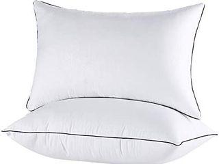 Bed Pillows for Sleeping 2 Pack  Hypoallergenic Pillows for Side and Back Sleeper  Down Alternative Hotel Quality Sleeping Pillows Soft Pillow Standard Size 20x26inches