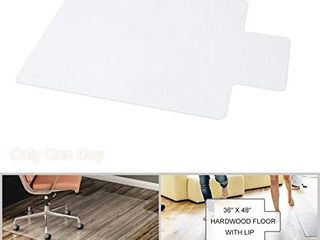 YOUKADA Office Chair Mat with lip for Hardwood Floors   Desk Chair Mat for Floor Protection 36  x 48
