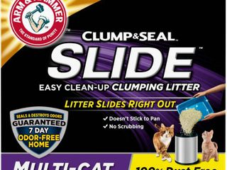 Arm   Hammer Slide Easy Clean Up Multi Cat Clumping litter   19lbs