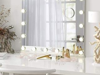 lUXFURNI Vanity Mirror with Makeup lights  large Hollywood light up Mirrors