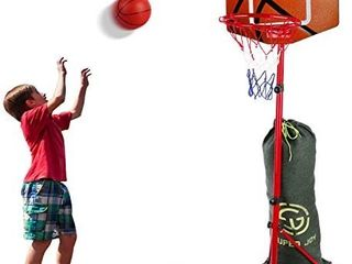 SUPER JOY Basketball Hoop for Toddlers Adjustable Height 2 85 6 23 ft  Portable Basketball Hoop for Kids