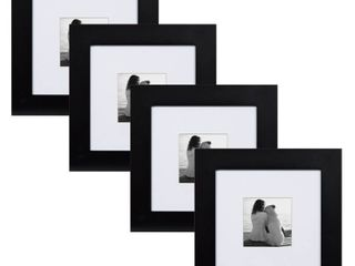Museum 7 5x7 5 matted to 3 5x3 5 Wood Picture Frame  Set of 4