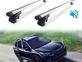 MONOKING 54 inches Cargo Racks  2 Piece Universal Cross Rail Roof Rack  with 2 Extra Rubber Strips  Crossbars Existing Raised Side Rail with a Gap