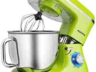 Aucma Stand Mixer 7 4QT 6 Speed Tilt Head Food Mixer  Electric Kitchen Mixer with Dough Hook  Wire Whip   Beater