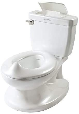 Summer Infant My Size Potty  White a Realistic Potty Training Toilet looks and Feels like an Adult Toilet a Easy to Empty and Clean