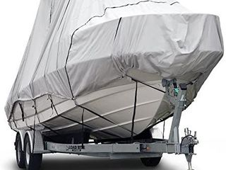 Budge B 621 X7 600 Denier Hard T Top Boat Cover Gray 22 24  long  Beam Width Up to 106  Waterproof  UV Resistant