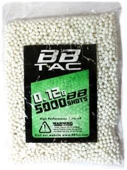 BBTac Airsoft BB 5 000 Round 0 12g 6mm BBS for Airsoft Guns Ammo Pallet