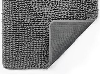 Gorilla Grip Soft Chenille Doormat Grey