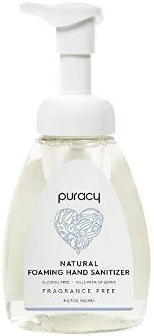Puracy Foaming Hand Sanitizer Fragance Free   8 5 fl oz