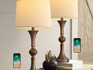 Visit the Oneach Store 4 6 out of 5 stars 358Reviews Oneach Table lamp with USB Charging Port for living Room 29 25a Traditional Nightstand lamp for Bedroom Bedside Table lamp with Neutral Drum Shade