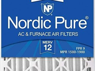 Nordic Pure 20x20x4 MERV 12 Pleated AC Furnace Air Filters 2 Pack