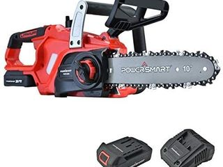 PowerSmart Chainsaw  10 Inch 20V Cordless Chainsaw  Power Chainsaw  Electric Chainsaw Battery Powered  20V Battery   Fast Charger Included  PS76120A