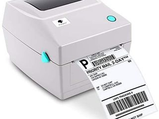 PM 201 Shipping label Printer   4x6 Thermal label Printer for Shipping Packages  6a s Speed  Support Mac Windows  UPS USPS FedEx Amazon Ebay Etsy Shopify  Roll   Fanfold Thermal Paper Suitable White