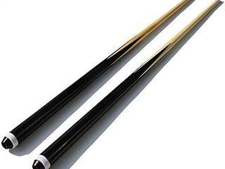 TGA SPORTS 36  Hardwood Billiard Pool House Cue Stick   Set of 2  Shorty Cues