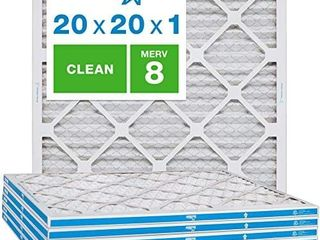 Aerostar Clean House 20x20x1 MERV 8 Pleated Air Filter  Made in the USA  6 Pack White
