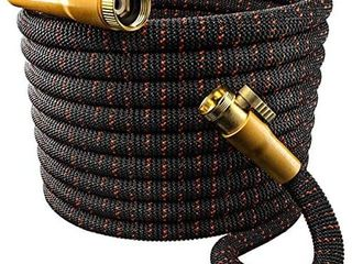 TBI Pro Garden Hose Expandable and Flexible   Super Durable 3750D Fabric   4 layers Flex Strong latex   No Rust Brass Connectors with Pocket Protectors   Water Hoses for Gardening