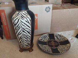 Imax Zebra Vase and Tray