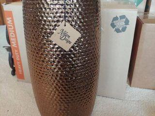 Ceramic Vase   Copper Metalic Colored