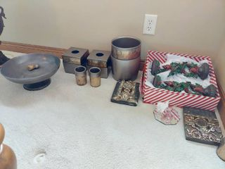 Centerpiece Bowl  Bathroom Set and Other Decor that is Chipped