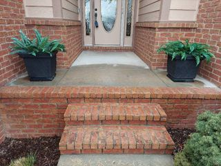 Pair of Planters with Fuax Plants
