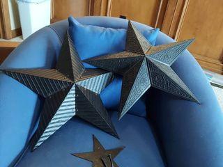 3 Pieces Metal Star Decor