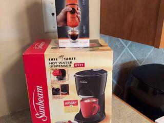 Sunbeam Hot Shot Water Dispenser and Wacaco Nanopresso