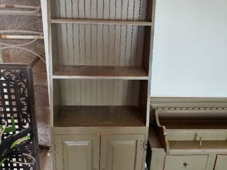 Green Country Farm House Cabinet with 2 Doors   Handles Need Glued in