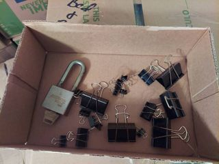 Padlock and Clips