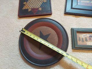 4 Pieces Wooden Decor