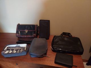 Assorted Purses and Billfolds   1 is Brahmin with Matching Billfold and Alligator Skin look