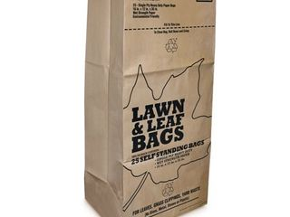 Plain 30 gal  lawn   leaf Bags 25 pk   Case Of  1  Each Pack Qty  25  Total Items Qty  25