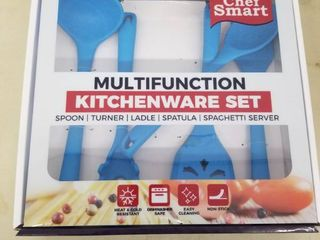 Chef Smart Multifunction Kitchenware Set Of 5 Blue