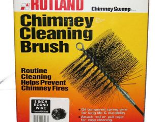 Rutland Products 16408 8 Inch Round Chimney Cleaning Brush