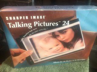 New in box sharper image talking picture album