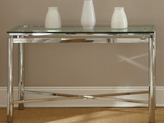 Strick   Bolton Jules Chrome and Glass Sofa Table   48 W x 18 D x 30 25 H  NO Glass