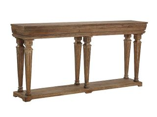Powell Benjamin Console Table  Driftwood Finish Missing Hardware