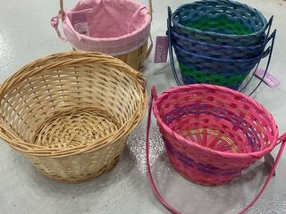 Set of 6 Assorted Wood Baskets
