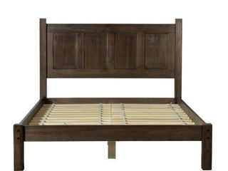 Grain Wood Furniture Shaker Panel Queen Solid Wood Platform Bed  BOX 1 OF 2