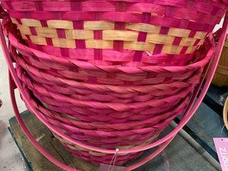 Set of 6 large Pink Baskets