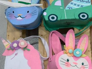 Set of Assorted Felt Baskets