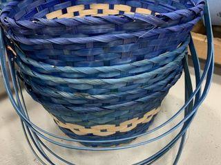 Set of 6 large Blue Baskets
