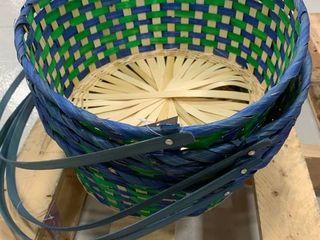 Set of 4 Blue   Green Jumbo Baskets