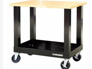 Husky 36in 3 Drawer Tool Cart With Wood Top Retail   255 61