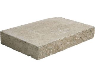 Pallet of 58 Pavestone 2 in  x 12 in  x 8 in  Buff Concrete Wall Cap  120 Pieces   118 5 linear ft    Pallet